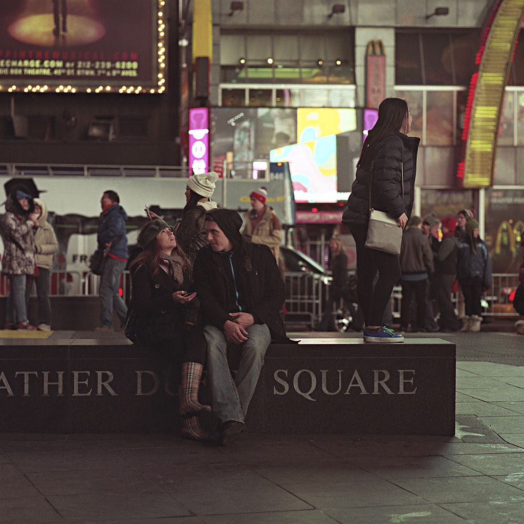 Times Square Series: Proposals (Photo by Chad Gayle)
