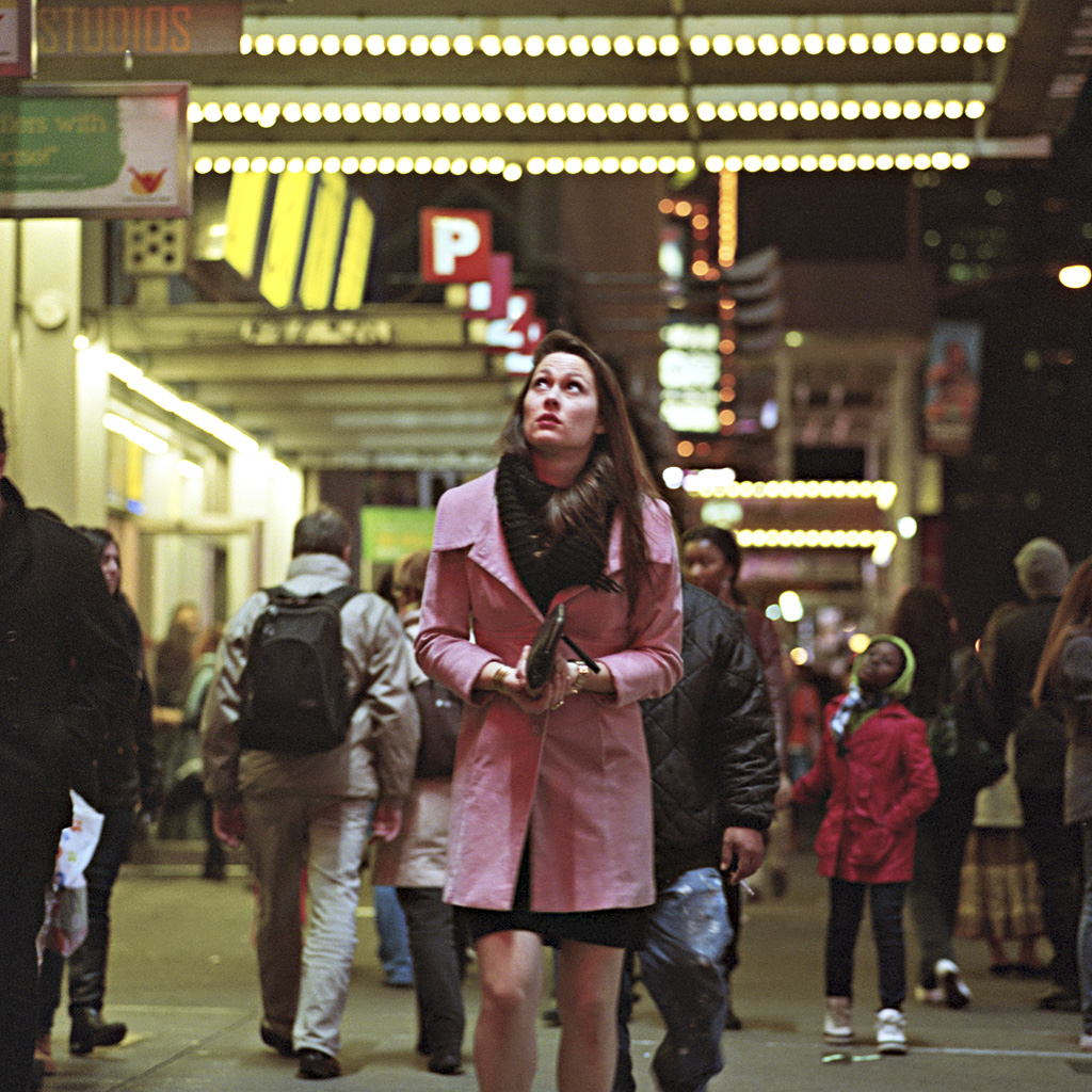 Times Square Series: Upon Her Shoulders (Photo by Chad Gayle)