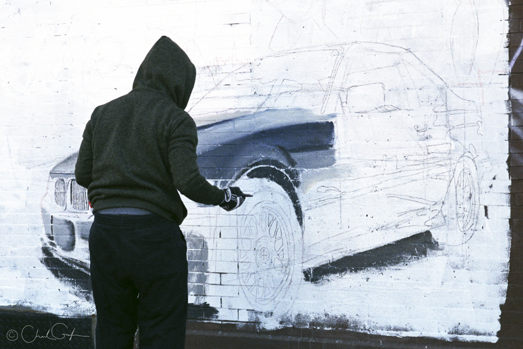 Mural Painter Working in East Harlem (Image by Chad Gayle)