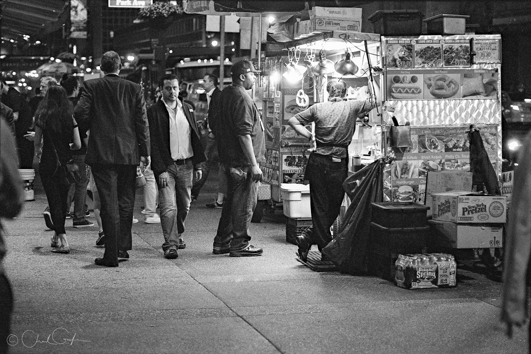 Nightly Halal Stand Beside Grand Central, Rear View (Image by Chad Gayle)