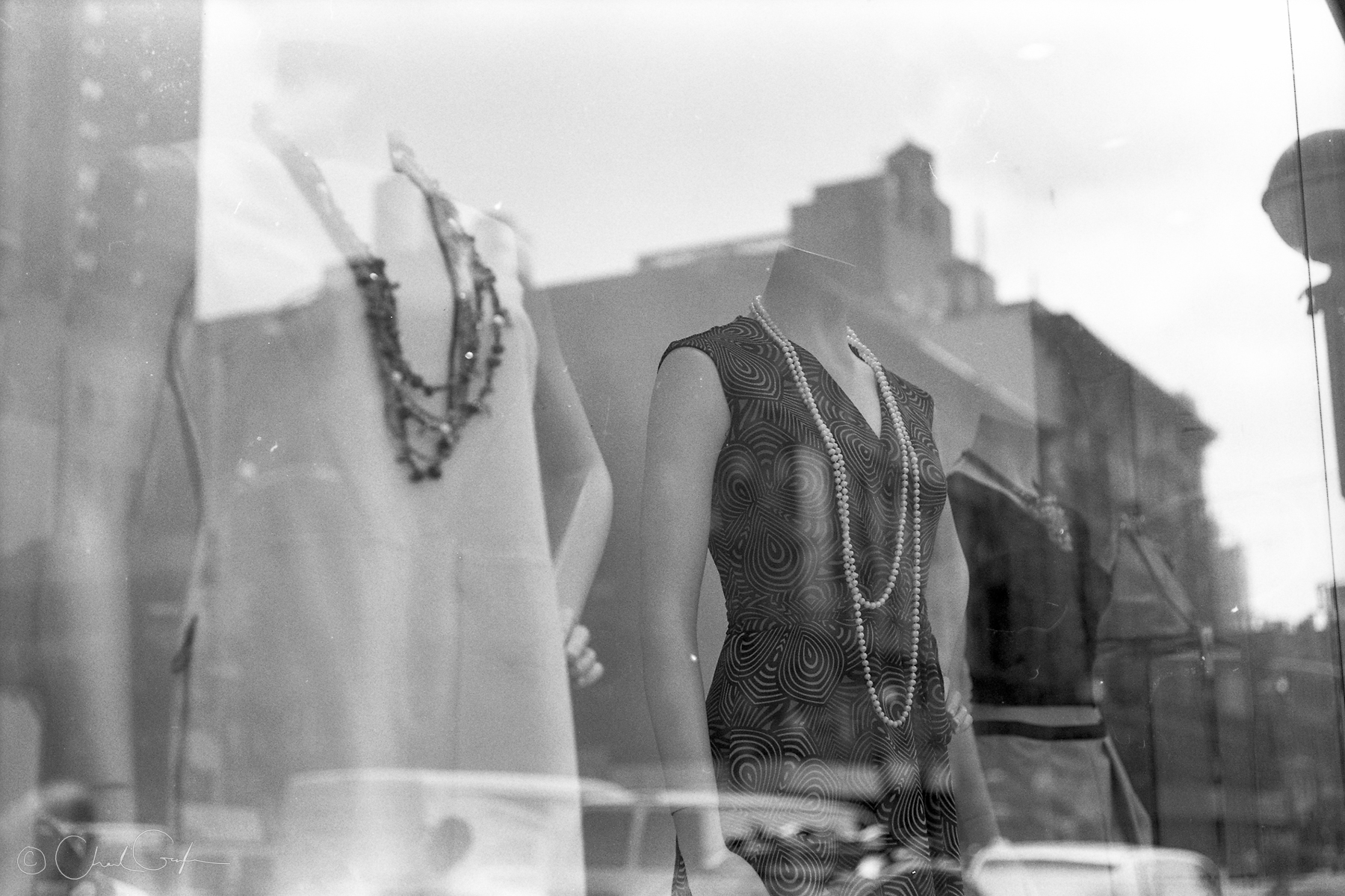 Black and White Window Dressing (Image by Chad Gayle)