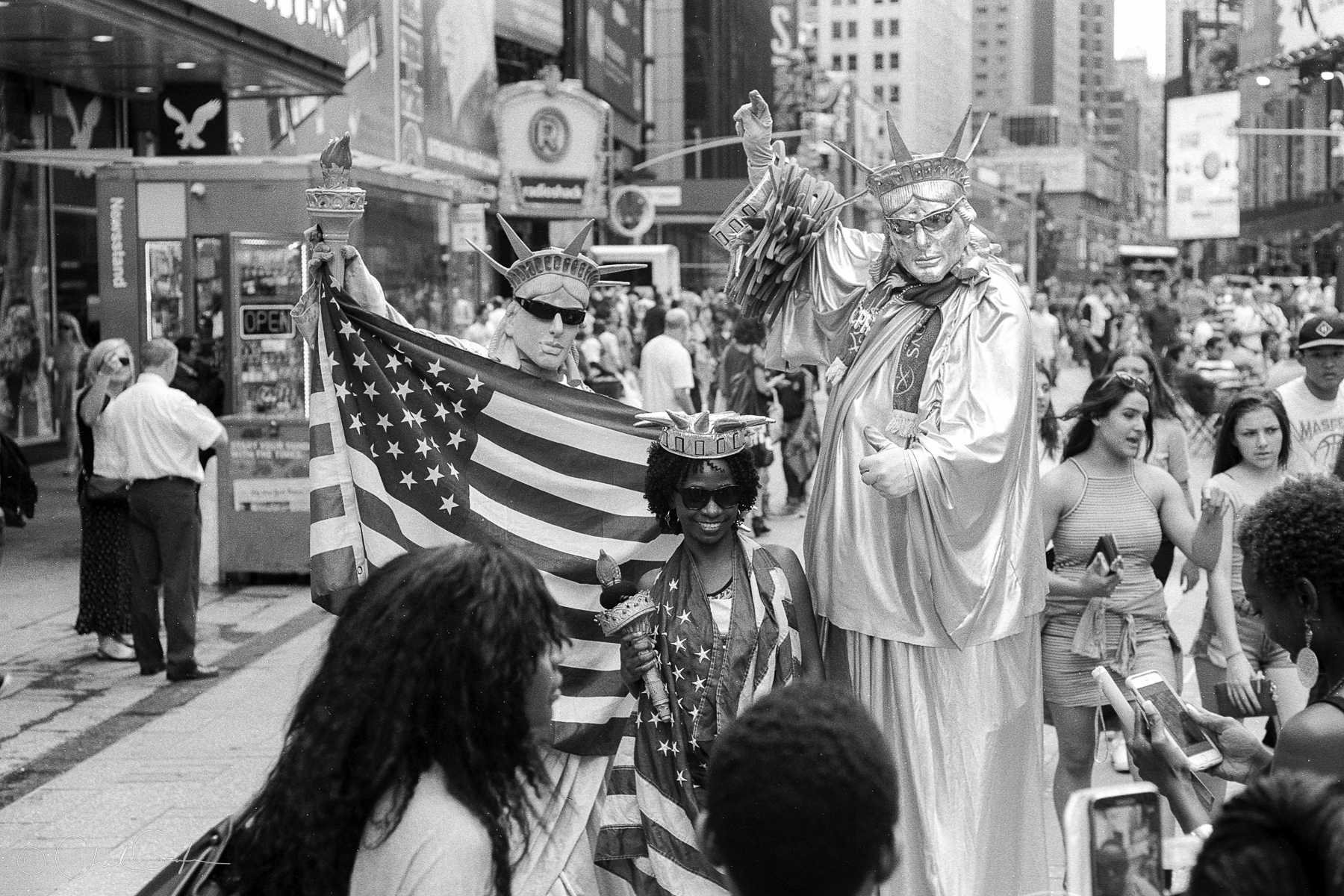 Statues of Liberty in Times Square by Chad Gayle (Image)