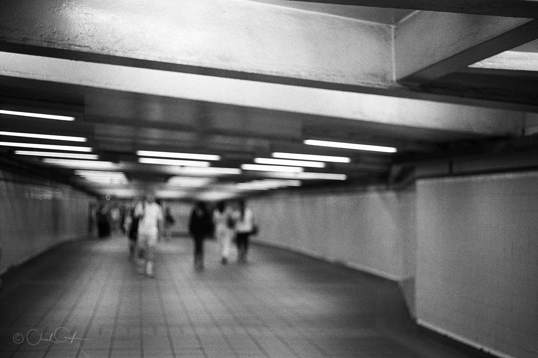 Subway Tunnel Abstract Figures by Chad Gayle (Image)